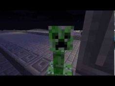 Minecraft en musique / Jouer avec un creeper / Balader le creeper, pas l...