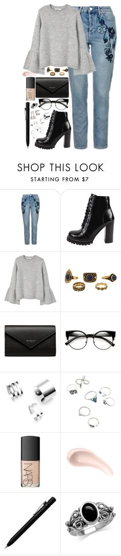 """Untitled #50"" by ama-per-amare ❤ liked on Polyvore featuring Topshop, Jeffrey Campbell, MANGO, Balenciaga, NARS Cosmetics, Soap & Glory and Faber-Castell"