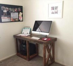 Pallet study / computer desk - 125 awesome diy pallet furniture ideas 101 p