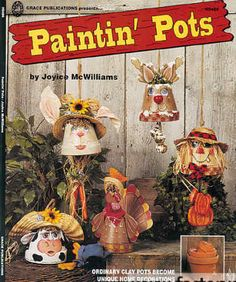 Reindeer Clay Pot Craft | ... Pots Book Joyce McWilliams - Tole & Decorative Painting Books - Craft