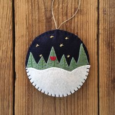 A Midnight Clear Felt Christmas Ornament by GeorgeNRuby on Etsy