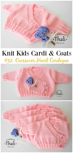 Kids Cardigan Sweater Free Knitting Patterns 2019 Baby Crossover Heart Cardigan Free Knitting Pattern Kids Sweater Coat Free Patterns The post Kids Cardigan Sweater Free Knitting Patterns 2019 appeared first on Knit Diy. Crochet Shrug Pattern Free, Baby Cardigan Knitting Pattern Free, Baby Sweater Patterns, Knitted Baby Cardigan, Knit Baby Sweaters, Knitted Baby Clothes, Baby Patterns, Sweater Coats, Free Baby Sweater Knitting Patterns