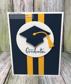 Bravo Grad, Inside & Out, Hats Off Die from Fun Stampers Journey cards It's HERE! Tonight is the Night! - The Stamp Camp Graduation Cards Handmade, Graduation Diy, Greeting Cards Handmade, Graduation Celebration, Stamping Up Cards, Creative Cards, Diy Cards, Homemade Cards, Birthday Cards