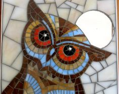 Búho lindo mosaico por VitruMosaics en Etsy                                                                                                                                                                                 More