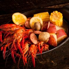 This was always a delight to see on the table. Homer would always  go pick out the crawfish to boil.