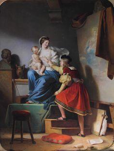Alexandre-Évariste Fragonard - Raphael Adjusting his Model's Pose for his Painting of the Virgin and Child, 1820