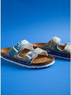 Birkenstock Sandals Classic Arizona Ancient Mosaic-Striped Birkenstock Sandals, Taupe, Arizona, Mosaic, Footwear, Classic, Shopping, Shoes, Women