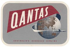 quantas airlines globe by Art of the Luggage Label, via Flickr