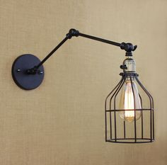59.99$  Buy here - http://alihkh.shopchina.info/go.php?t=32589852614 - Loft Industrial Vintage Edison Wall Lamp Black Fixtures For Bar Cafe Home Lighting Wall Sconce Arandela Lamparas De Pared  #SHOPPING