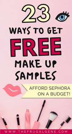 23 Ways Ladies Can Score Free Makeup Cosmetic Samples 💄 Free Stuff By Mail, Get Free Stuff, Free Mail, Free Beauty Samples, Free Makeup Samples, Free Samples By Mail, Makeup Sample Box, Makeup Kit, Eye Makeup