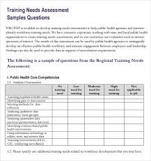 Image Result For Training Needs Analysis Template Training