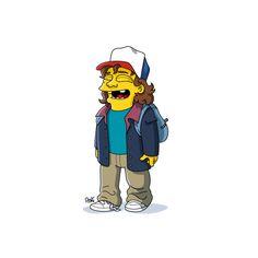 Dustin, Simpsonized by ADN