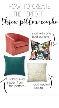 Throw pillows how to create a mix: