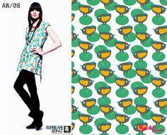 Supremebeing: Womenswear. AW/2008. Print Direction and Design.  © Mirella Bruno Print Designs. 2007.