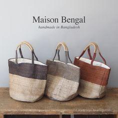 Maison Bengal メゾンベンガル  ジュート ハンドメイド トートバッグ:楽天