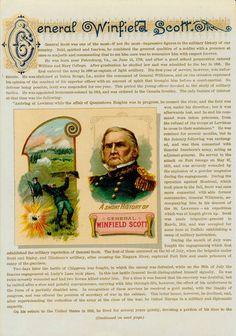 General Winfield Scott - Union - GENERAL DUKE ALBUM CARD CIRCA 1888