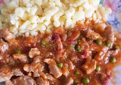 (2) Borsos tokány nokedlivel | Babai János receptje - Cookpad receptek Chili, Soup, Beef, Cooking, Recipes, Meat, Kitchen, Chile, Recipies