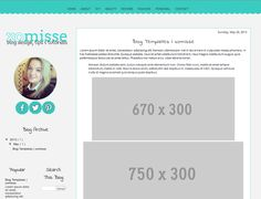 Free Blogger template with full scalloped edge header and matching social media icons #blogdesign