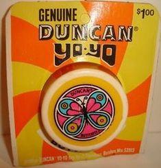 Butterfly Yo Yo was a craze when I was in about 7th grade, c. 1970.  1960s Duncan Yo-Yo #Vintage #Toys