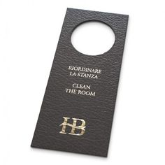 Bonded Leather Door Hangers - The Smart Marketing Group - Hospitality. Personalised luxury hotel themed 'do not disturb' signs and Hotel guest products.