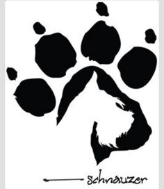 Cool Schnauzer paw print. I want this as my next tattoo! <3