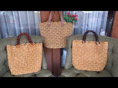 Kağıt ipten çanta yapımı/ kağıt ip çanta / hasır görünümlü çanta yapımı - YouTube