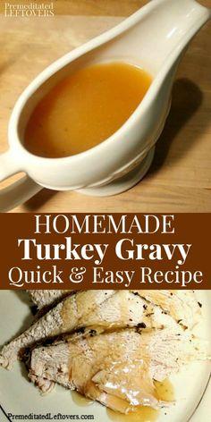 Homemade Turkey Gravy, Homemade Gravy Recipe, Making Turkey Gravy, Best Turkey Gravy, Quick Gravy Recipe, Gluten Free Turkey Gravy Recipe, Dairy Free Gravy, Turkey Recipes, Turkey Gravy Recipe With Cornstarch