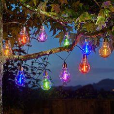 Fairy Lights, Garden Lights, Solar Sensory and Disco Lights Glow Sticks & Candles - Glow in the Dark Toys Light Bulb Fairy Lights, Coloured Fairy Lights, Retro Light Bulbs, Solar Led String Lights, Disco Lights, String Lights Outdoor, Lighting Direct