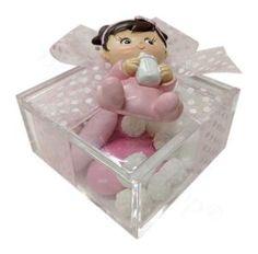 Magnete Neonata bimba rosa con ciuccio Confezionato