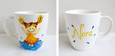 hand-painted mug for a little girl; 370ml / Kristi Palm Art