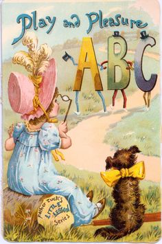 """""""PLAY AND PLEASURE ABC"""", Raphael Tuck antique book"""