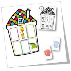 Voici un petit jeu pour des PS-MS, entrainant le repérage spatial : la maison des animaux. Le but du jeu est de ranger les animaux...