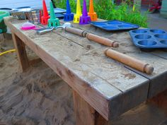 our chunky mud table
