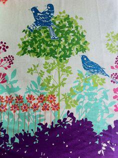 Echino Fabric Fall 2011 Wish Border Print in Purple by Etsuko Furuya (Half Yard). $9.50, via Etsy.