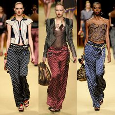 Polka Dot wide leggers by Marc Jacobs for Louis Vuitton Fall 2009 - love love these pants!