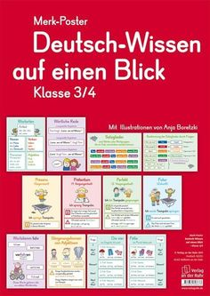 German Knowledge at a Glance - Class - deutsch - Logo-und CI-Design Art Education Resources, Science Education, Teacher Resources, Primary School, Elementary Schools, Grammar Posters, German Grammar, German Language Learning, La Formation