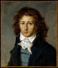 Gros, Jean Antoine (1771-1835) - 1790 Portrait of the Artist Francois Pascal Simon Gerard (Metropolitan Museum of Art, New York City)