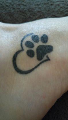 Paw Prints On My Heart Tattoo