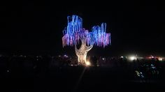 burning man arbre arc en ciel