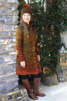 Hand Knitting, High Neck Dress, Coat, Projects, Dresses, Fashion, Turtleneck Dress, Log Projects, Vestidos