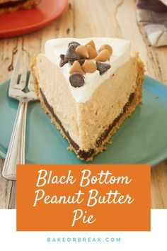 Black Bottom Peanut Butter Pie is filled with chocolate ganache, a mile-high no-bake peanut butter filling, and sweetened whipped cream. This is one delicious pie! Easy To Make Desserts, Kinds Of Desserts, Köstliche Desserts, Delicious Desserts, Dessert Recipes, Peanut Butter Filling, Peanut Butter Cheesecake, Butter Pie, Chocolate Graham Crackers