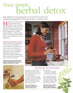 Mind, Body, Spirit Collection - Your Simple Herbal Detox Holistic Remedies, Natural Health Remedies, Holistic Healing, Herbal Remedies, Home Remedies, Healing Herbs, Medicinal Herbs, Natural Detox, Natural Healing