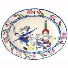 Seafood Medley Oval Platter