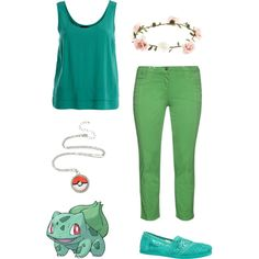 Bulbasaur by smilelikeyoucan on Polyvore featuring VILA, aprico, maurices and Accessorize