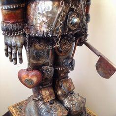 Online portfolio of Assemblage Artist Michael deMeng Wizard Of Odds, Found Art, Creepy Art, Assemblage Art, Sculpture Art, Metal Sculptures, Box Art, Easel, Art Tutorials