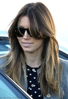 New 'do: Jessica Biel, 31, spent two hours in a Los Angeles salon on Wednesday, before leaving with a new stlye