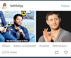 This right here is why I love misha he is awesome and weird love it lol