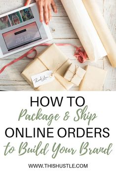 You started an online side hustle and make your first sale! It's important to pack items with care while including special touches to make your brand memorable. I included all the tips and tricks I've learned along the way. Business Branding, Business Marketing, Content Marketing, Starting An Etsy Business, Small Business Plan, Craft Packaging, Packaging Ideas, Small Business Organization, How To Memorize Things
