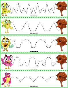 Trace The Pattern: Birds to Birdhouses Fall Preschool Activities, Printable Preschool Worksheets, Preschool Writing, Tracing Worksheets, Homeschool Kindergarten, Teaching Activities, Teaching Kids, Printable Cards, Community Helpers Worksheets
