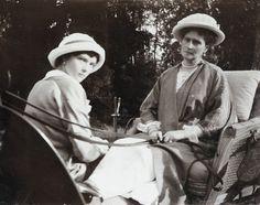 Tatiana and her Mother Alexandra 1914